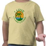 Amo productos vivos de la isla camiseta