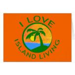 Amo productos vivos de la isla felicitaciones