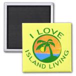 Amo productos vivos de la isla imán de nevera