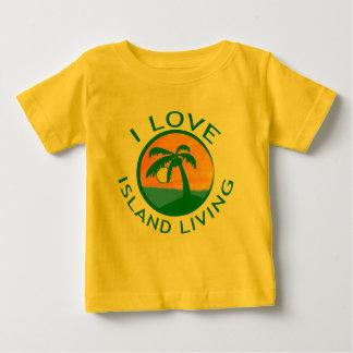 Amo productos vivos de la isla playera para bebé