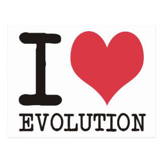 ¡AMO productos y diseños de la evolución! Postal