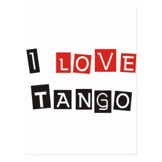 ¡Amo productos y diseños del tango! Tarjeta Postal