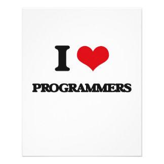 Amo programadores tarjeta publicitaria