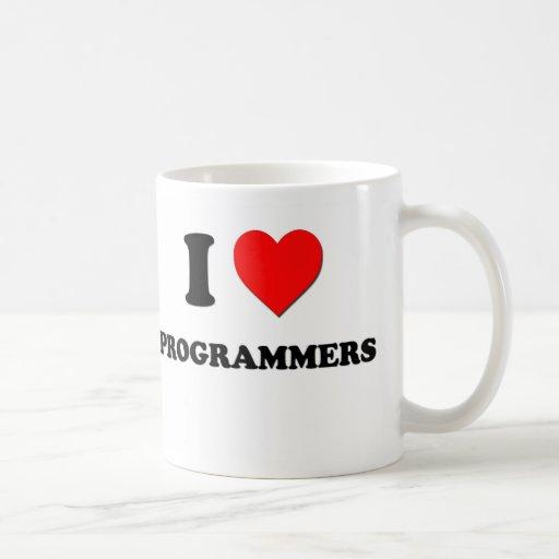 Amo programadores taza básica blanca