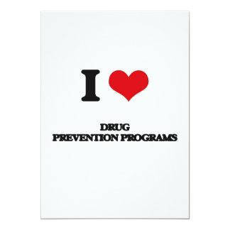 Amo programas de la prevención del consumo de invitación 12,7 x 17,8 cm