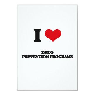 Amo programas de la prevención del consumo de invitación 8,9 x 12,7 cm