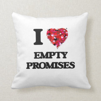 Amo promesas vacías almohada