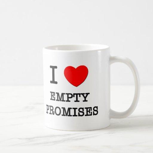 Amo promesas vacías tazas de café