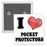 Amo (protectores del bolsillo del corazón de la te pin