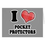 Amo (protectores del bolsillo del corazón de la te felicitacion