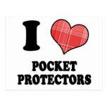 Amo (protectores del bolsillo del corazón de la te postales