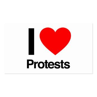 amo protestas tarjetas de visita
