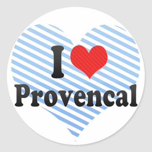 Amo Provencal Pegatina Redonda