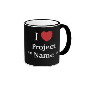 ¿Amo proyecto? /Me ama equipo de Personalisable Taza De Dos Colores