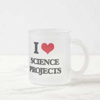 Amo proyectos de la ciencia taza de cristal