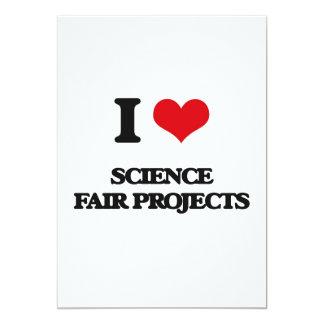 Amo proyectos de la feria de ciencia invitación 12,7 x 17,8 cm