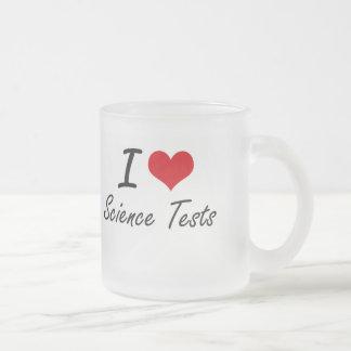 Amo pruebas de la ciencia taza de cristal
