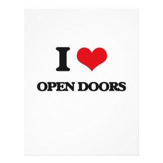 Amo puertas abiertas flyer personalizado