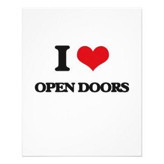 Amo puertas abiertas tarjetas informativas