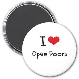 Amo puertas abiertas iman de nevera