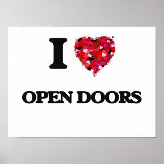 Amo puertas abiertas póster