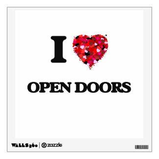 Amo puertas abiertas vinilo adhesivo