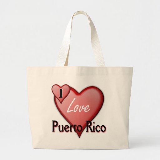 Amo Puerto Rico Bolsa De Mano