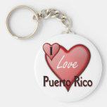 Amo Puerto Rico Llavero Personalizado