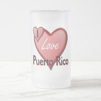 Amo Puerto Rico Taza De Cristal
