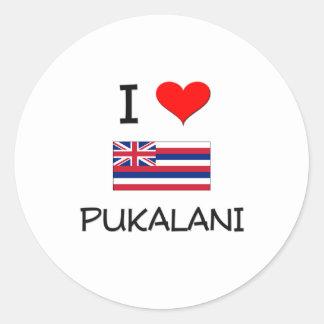 Amo PUKALANI Hawaii Pegatina Redonda