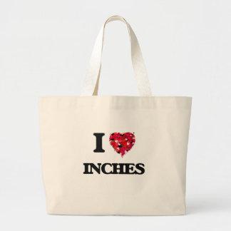 Amo pulgadas bolsa tela grande