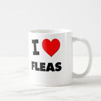 Amo pulgas taza de café