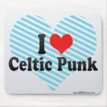 Amo punk céltico alfombrilla de raton