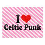 Amo punk céltico tarjetas postales