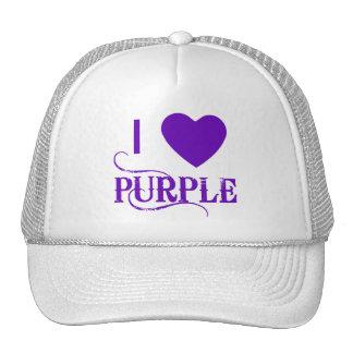 Amo púrpura con Purple Heart Gorras