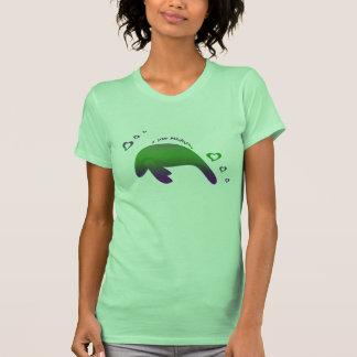 Amo púrpura verde de los Manatees Camisetas