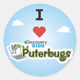 Amo Puterbugs Pegatina Redonda
