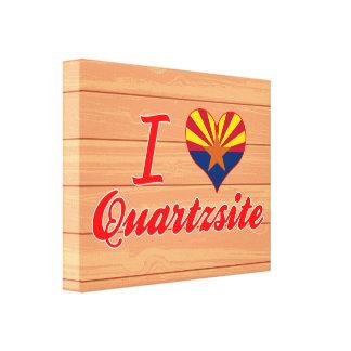 Amo Quartzsite, Arizona Lienzo Envuelto Para Galerias