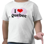Amo Quebec, Canadá Camisetas