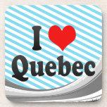 Amo Quebec, Canadá Posavasos De Bebida