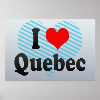 Amo Quebec Canadá Posters