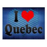 Amo Quebec, Canadá Tarjeta Postal