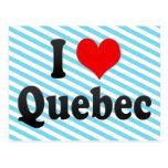 Amo Quebec, Canadá Tarjetas Postales