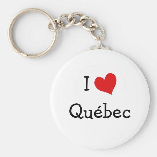 Amo Quebec Llavero Redondo Tipo Pin