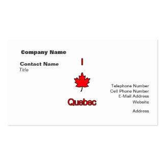 Amo Quebec Tarjetas De Visita