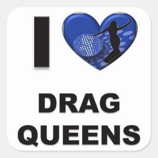 Amo Queens de fricción Pegatina Cuadrada