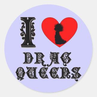 Amo Queens de fricción Pegatina Redonda
