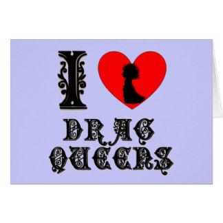 Amo Queens de fricción Tarjeta De Felicitación