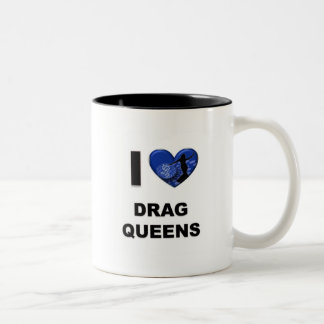 Amo Queens de fricción Taza De Café De Dos Colores