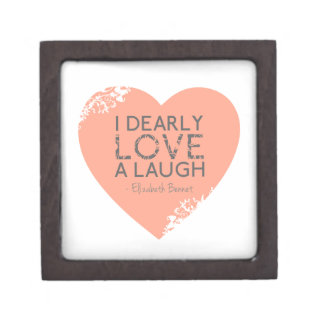 Amo querido una risa - cita de Jane Austen Cajas De Regalo De Calidad